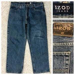 Izod 100% cotton relaxed fit heavy denim, 36x29